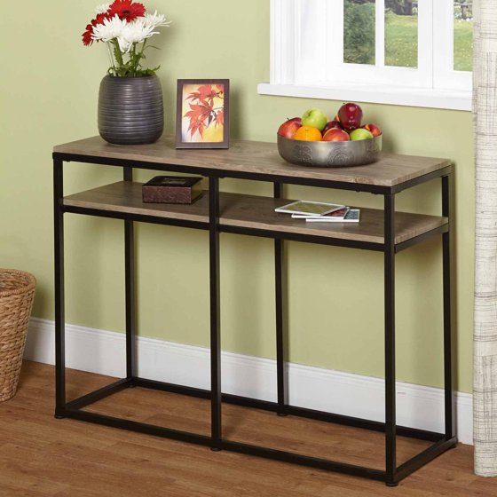 Vie occasional sofa table 60005nat for Sofa table at walmart