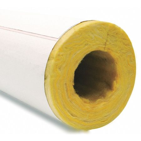 "OWENS CORNING Pipe Insulation,ID 3-1/8"",Wall Thick 1"" 722593"