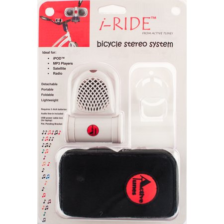 Active Tunes I Ride Bicycle Stereo System With Case Ipod Mp3 Detachable New
