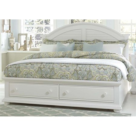 Liberty Furniture Summer House I King Storage Bed in Oyster White ()