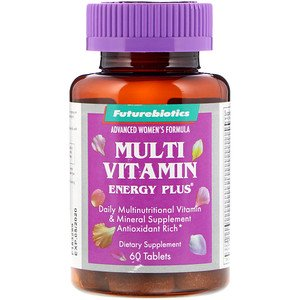 FutureBiotics, Advanced Women's Formula, Multi Vitamin Energy Plus, 60 Tablets (Pack of 1) ()