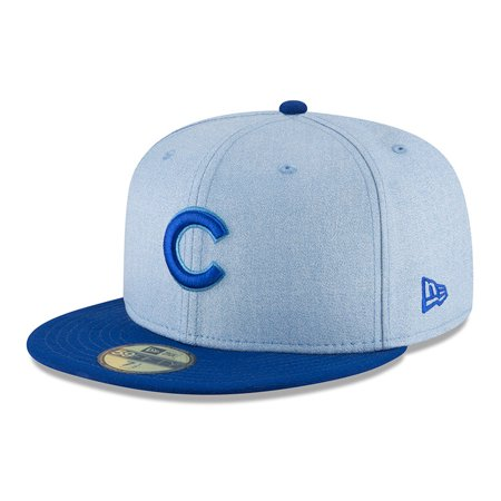 7283c8f3291 Chicago Cubs New Era 2018 Father s Day On Field 59FIFTY Fitted Hat - Light  Blue - Walmart.com