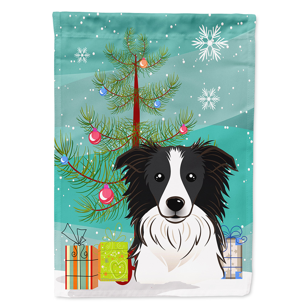 Christmas Tree and Border Collie Garden Flag - Walmart.com