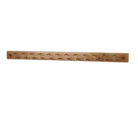 Spectrum Diversified Tie And Belt Rack Wall Mount 24 Peg Wood Natural