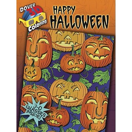 Halloween Coloring Sheets For Toddlers (3-D Coloring Book: Happy)