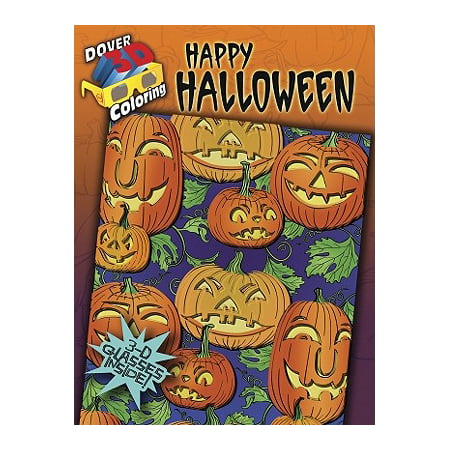 3-D Coloring Book: Happy Halloween - Coloring Pages Halloween
