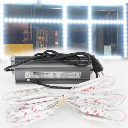 LEDUPDATES 25ft Premium Brightest Storefront Window LED Light Module with Samsung Chip + Heavy Duty UL Listed 12v 100w Power Supply