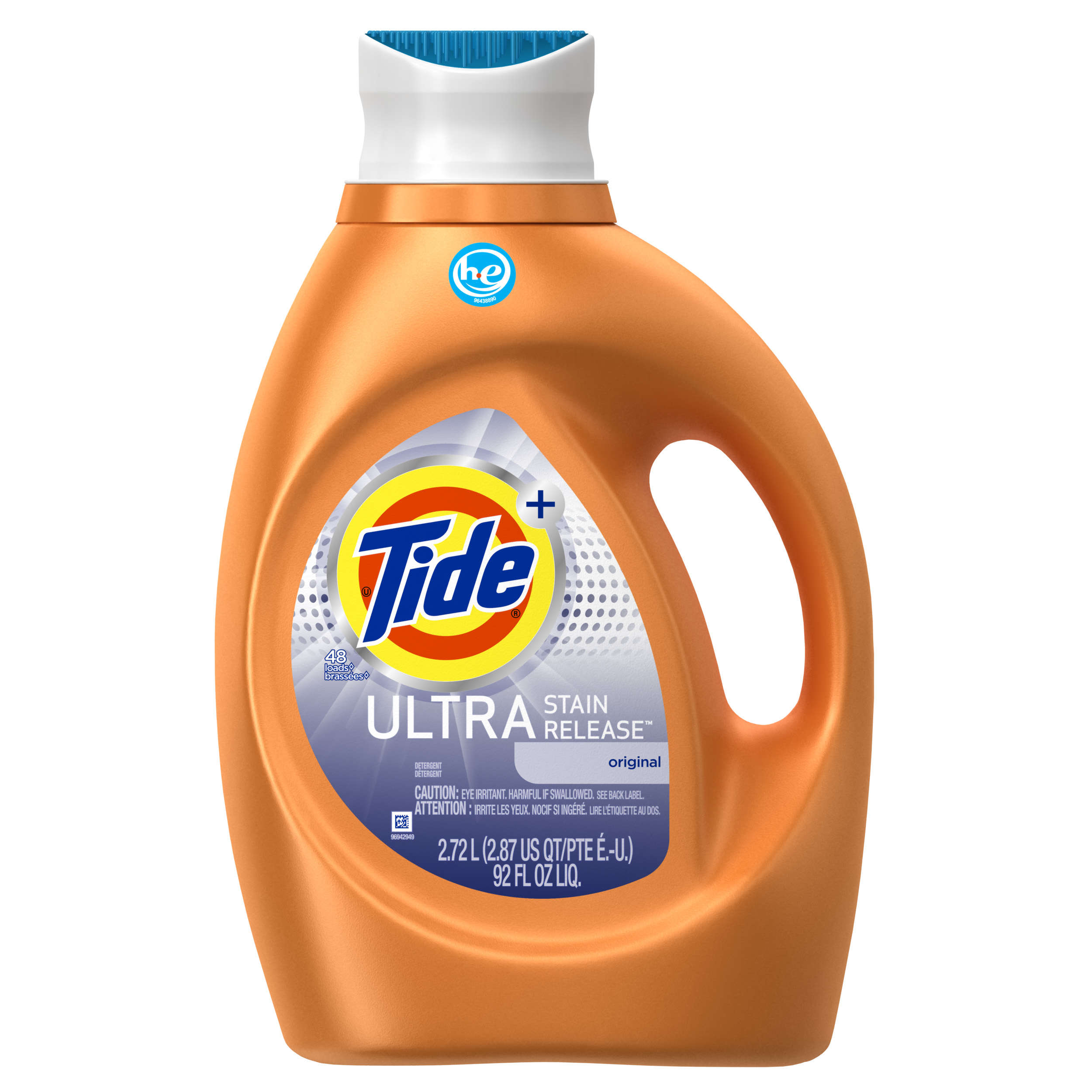Tide Ultra Stain Release HE Turbo Clean Liquid Laundry Detergent , 92 oz , 48 loads