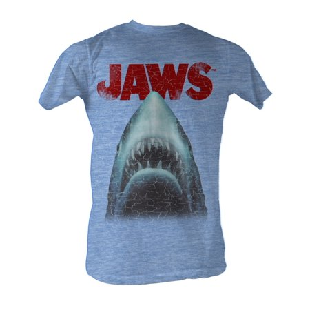 Jaws Mens  Stressed Out Slim Fit T Shirt Heather Light
