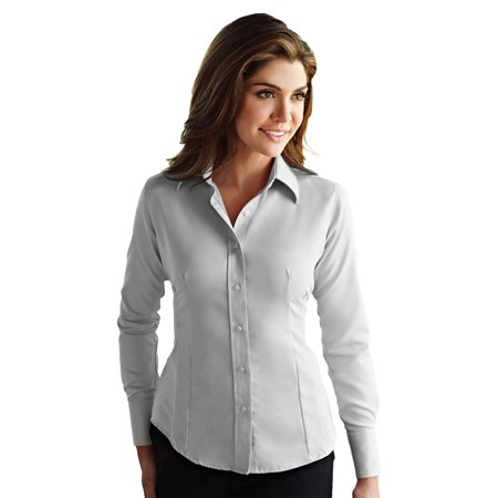 Tri-Mountain Women's Tailored Fit Non Iron Dress - Brooks Brothers Non Iron Dress Shirt