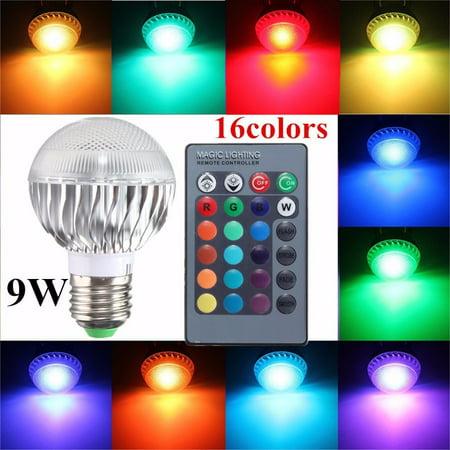 Infrared Led Pen (9W E27 16-Color RGB LED Stage Ball Light Bulb Global DJ Lamp KingSo Energy Saving Home Light Color Changing AC110V/220V + 24Key Wireless Infrared Remote)