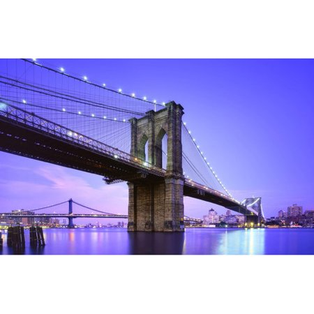 Northlight Seasonal LED Lighted Famous New York City Brooklyn Bridge Photographic Print on - Canvas Net