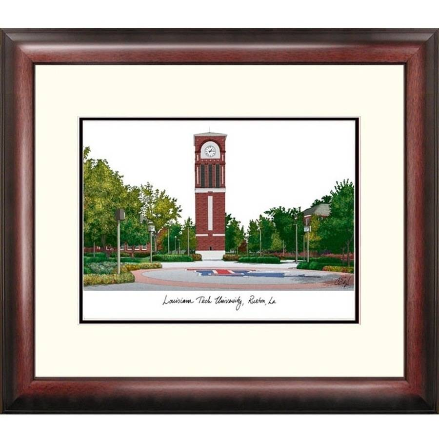 Louisiana Tech University Alumnus Framed Lithogrpah