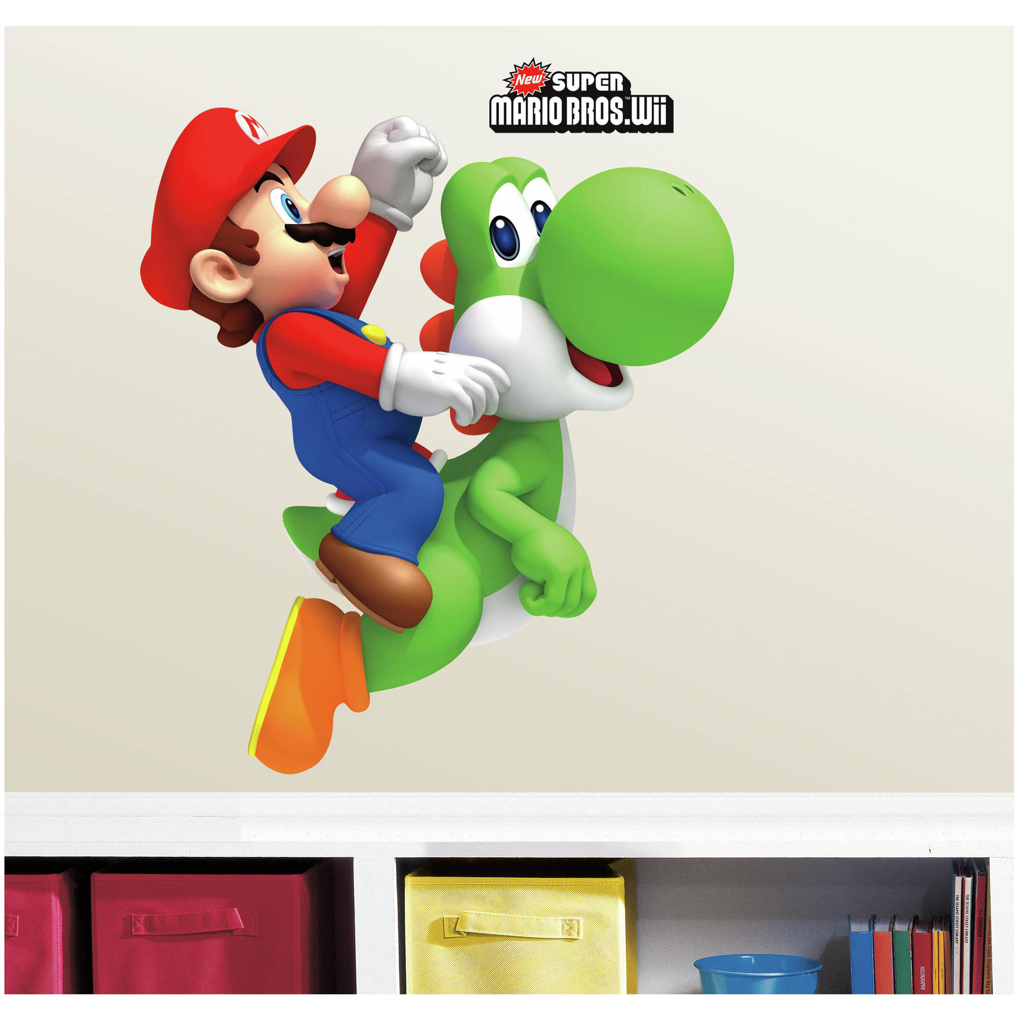 RoomMates Yoshi/Mario Peel and Stick Giant Wall Decals