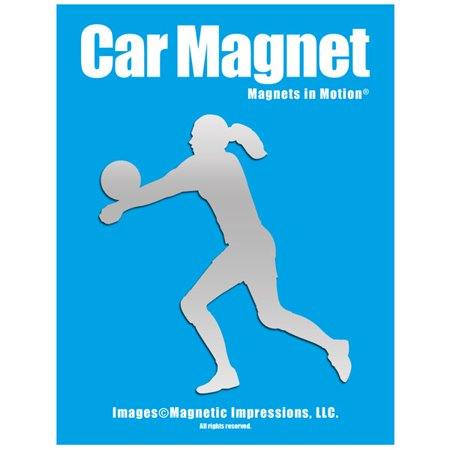 Volleyball Player Female Car Magnet - Large Volleyball Magnet
