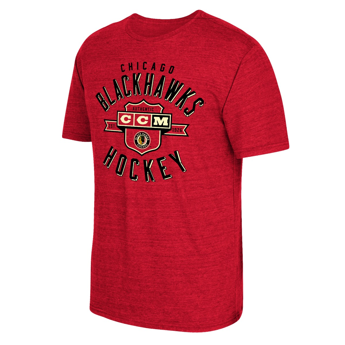 "Chicago Blackhawks CCM ""Supra Shield"" NHL Tri-Blend Men's T-Shirt"
