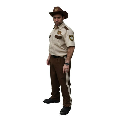 The Walking Dead Adult Rick Grimes' Sheriff Halloween - Walking Dead Halloween Costumes Daryl