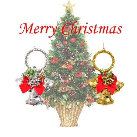 CARLTON GLOBAL Merry Christmas Tree Decoration Plating Ornaments Christmas Hanging Ornaments ()