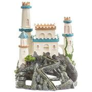 """Exotic Environments Princess Castle Cavern Aquarium Ornament 6\""""L x 7\""""W x 8\""""H"""