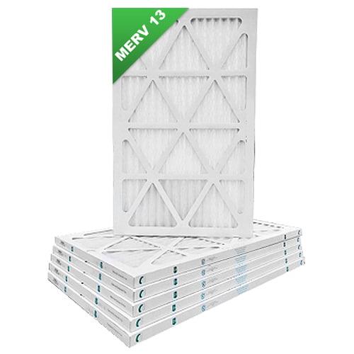 18x25x1 Merv 13 Pleated AC Furnace Air Filters 6 Pack