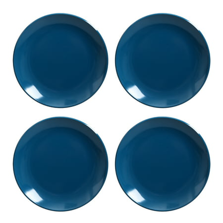 Mainstays Melamine Mix and Match 4-Pack Salad Plates, Blue