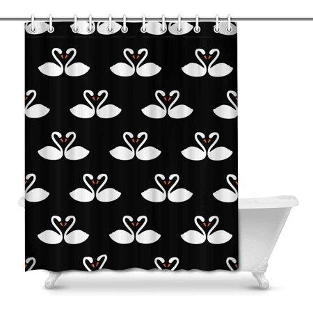POP Swan Art Shower Curtain 66x72 inch - image 1 of 1