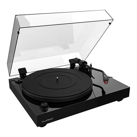Fluance RT83 Reference High Fidelity Vinyl Turntable Record Player with Ortofon 2M Red Cartridge, Speed Control Motor, Solid Wood Plinth, Vibration Isolation Feet - Piano Black - image 1 de 7