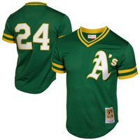 Rickey Henderson Oakland Athletics Mitchell & Ness 1991 Cooperstown Mesh Batting Practice Jersey - Green