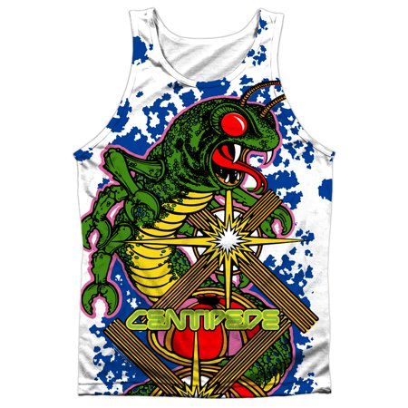Atari Arcade Games Centipede Game Insect Attack Front/Back Print Tank Top Shirt