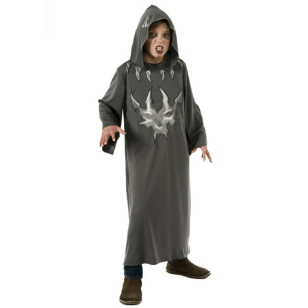 Boys Long Grey Devil Demon Grey Hooded Gown - Izzy Costume