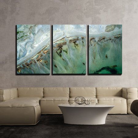 Tropical Wall Decor - wall26 - 3 Piece Canvas Wall Art - Turquoise Landscape of Tropical Sea - Modern Home Decor Stretched and Framed Ready to Hang - 24