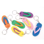 Rinco Mini Flip Flop Summer Keychains 2.5 inch Party Favor, 12 Pack