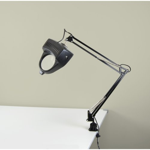 Studio Designs Magnifying Lamp, 13W CFL Bulb Included, Black