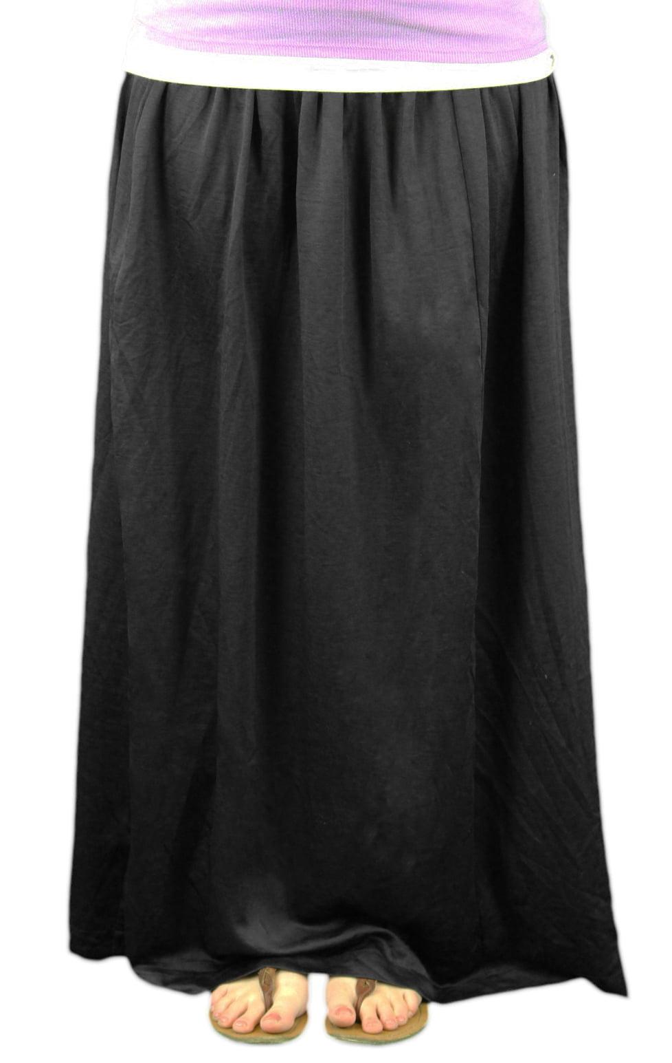 9 FASHION Maternity Orina Black Satin Finish Maxi Skirt Sz S by 9 Fashion