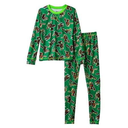 Boys Climatesmart Teenage Mutant Ninja Turtles 2-Piece Baselayer Set - Ninja Turtle Footed Pajamas For Adults
