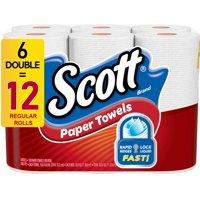 Scott Paper Towels, Choose-A-Sheet, 6 Double Rolls (=12 Regular Rolls)