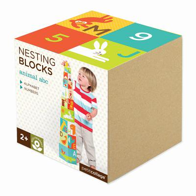 Petit Collage Nesting Blocks, Animal ABC (Discontinued by Manufacturer) ()