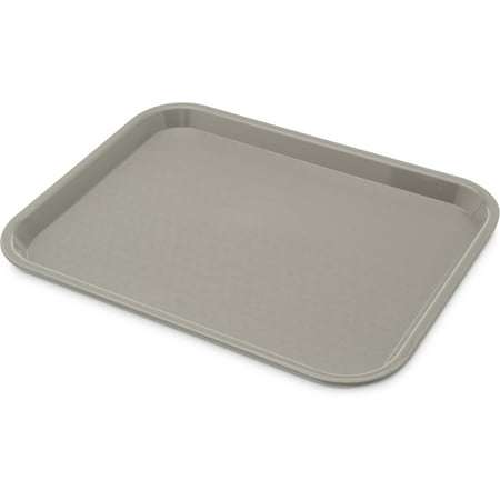 "Carlisle CT101423 Café Standard Cafeteria / Fast Food Tray, 10"" x 14"", Gray"