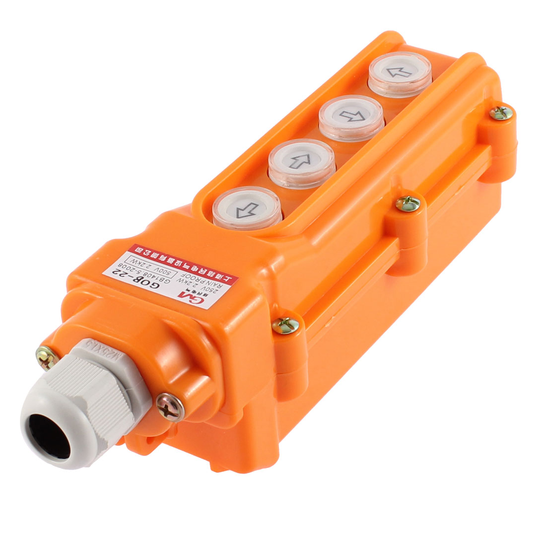 Rainproof Hoist Crane Pushbutton Switch Up Down Left Right 4 Way Controls Control Station
