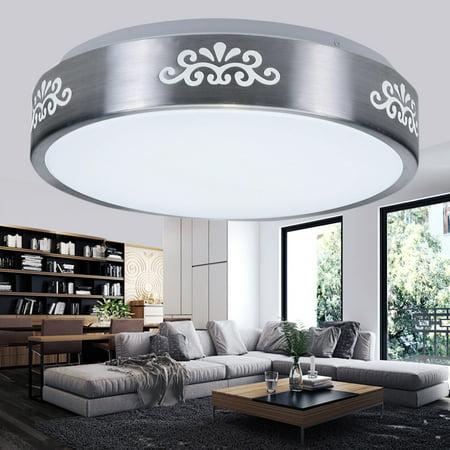 Flush Mounted Ceiling Lamp (Round LED Flush Mount Ceiling Down Light flushmountlight 29*29CM 12W Home Office Fixture Lamp Bedroom Study Living)