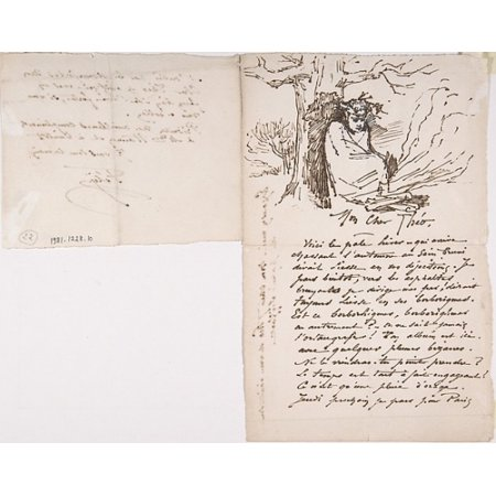 Letter to Theo Hanon from Rops signed Fély Poster Print by Félicien Rops (Belgian Namur 1833–1898 Essonnes) (18 x