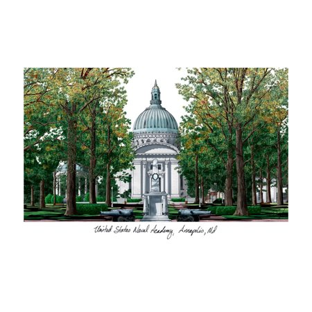 Campus Images Sports Team Logo Design United States Naval Academy Campus Images Lithograph Print