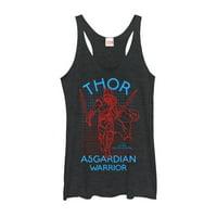 Marvel Women's Thor: Ragnarok 3D Dimension Racerback Tank Top