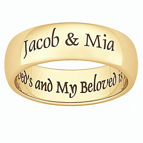 Personalized Two Souls Gold IP Plate Stainless Steel Message Band
