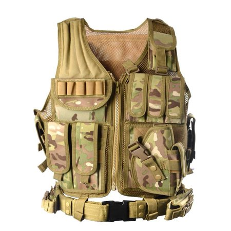 vAv YAKEDA Army Fans Tactical Vest Cs Field Outdoor Equipment Supplies Breathable Lightweight Tactical Vest -1063