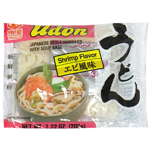 Myojo Udon Japanese Style Shrimp Flavor Noodles With Soup Base, 7.22 oz  (Pack of 30)