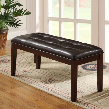 Amazing Weston Home 49W Tufted Dining Bench Espresso Pdpeps Interior Chair Design Pdpepsorg