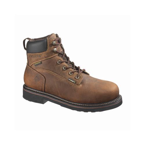 Wolverine Worldwide W10080 10.5M Brek Waterproof Boots, Medium Width, Brown Leather, Men's Size 10.5