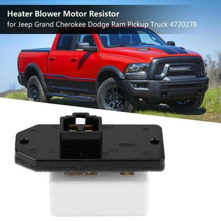 Yosoo Heater Blower Motor Resistor Blower Control Resistor for Jeep Grand Cherokee Dodge Ram Pickup Truck 4720278,