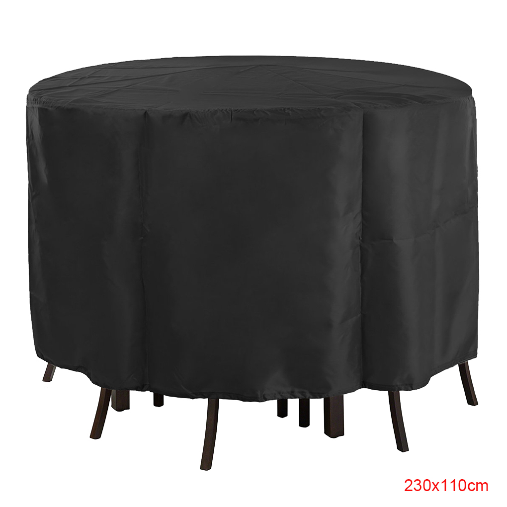Electronicheart Garden Furniture Round Shape Table Cover Slipcover Sofa  Couch Covers Living Room Outdoor Waterproof Dustproof